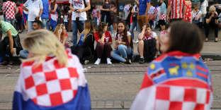 A Zagreb, pendant le match France-Croatie, le 15 juillet.