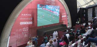 Les matchs de la Coupe du monde ont été suivis au stade international de Khalifa à Doha.