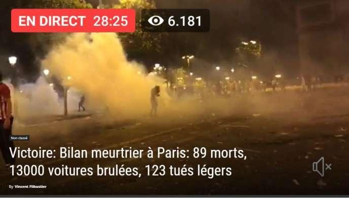 89 morts », « 13 000 voitures brûlées » : intox en série après la
