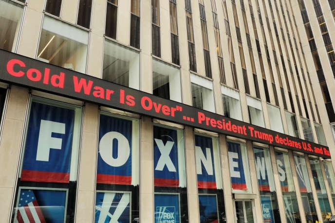La façade de Fox News à New York, mardi 16 juillet.