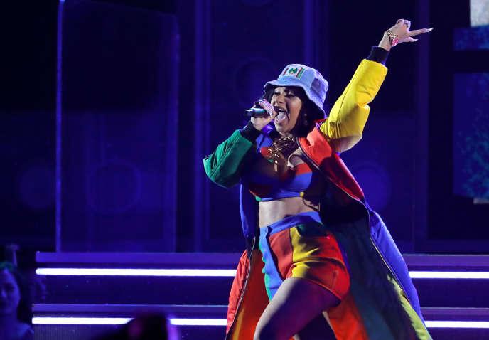 La rappeuse américaine à succès Cardi B lors des Grammy Awards, à New York, en janvier.