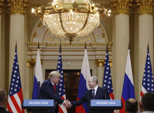 Donald Trump et Vladimir Poutine, à Helsinki le 16 juillet.