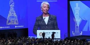 Christine Lagarde, directrice générale du FMI, le 25 mai à Saint-Pétersbourg.