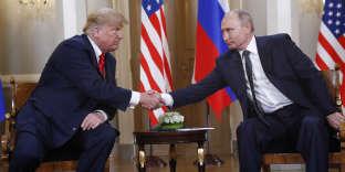Donald Trump et Vladimir Poutine à Helsinki, le 16 juillet.