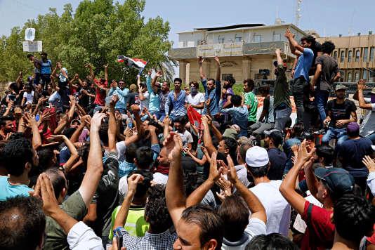 Manifestation à Bassora, le 15 juilllet.