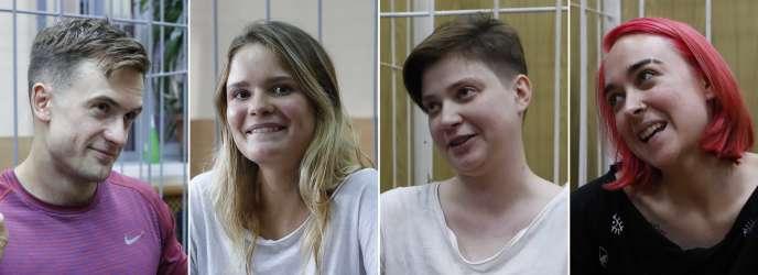 Un tribunal de Moscou a condamné Veronika Nikoulchina, Olga Pakhtoussova, Piotr Verzilov et Olga Kouratcheva à quinze jours de prison et leur a interdit d'assister à des événements sportifs pendant trois ans.