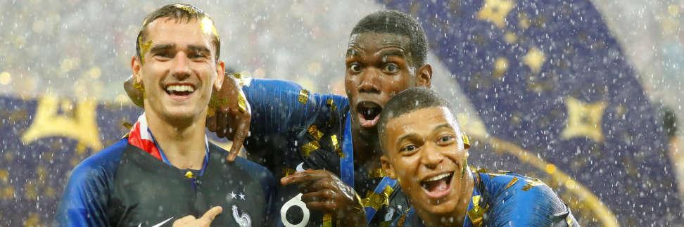 Antoine Griezmann, Paul Pogba et Kylian Mbappe représentent la nouvelle génération des Bleus.