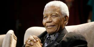 Nelson Mandela à Kliptown, près de Johannesburg, le 12 juillet 2008.