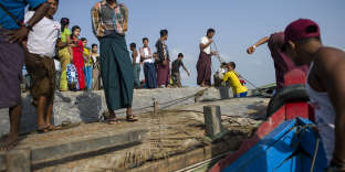 Le port de Sittwe (Birmanie) près de la frontière avec le Bangladesh, le 15 avril.