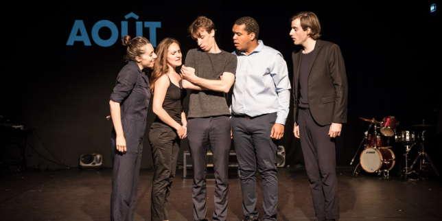 «Je m'en vais mais l'Etat demeure», de et mis en scène par Hugues Duchêne au Théâtre du Train bleu à Avignon.