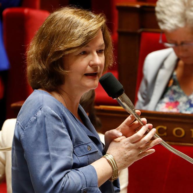 Nathalie Loiseau, la ministre chargée des affaires européennes, le 17 juillet à l'Assemblée nationale,à Paris.