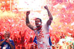 Soccer Football - World Cup - The Croatia team return from the World Cup in Russia - Zagreb, Croatia - July 16, 2018   Croatia's Dejan Lovren during celebrations   REUTERS/Antonio Bronic     TPX IMAGES OF THE DAY