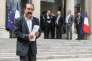 Philippe Martinez, secrétaire général de la CGT, lors du sommet social à l'Elysée, le 17 juin.