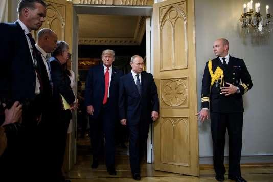 Donald Trump et Vladimir Poutine lors de leur réunion à Helsinki (Finlande), le 16 juillet.