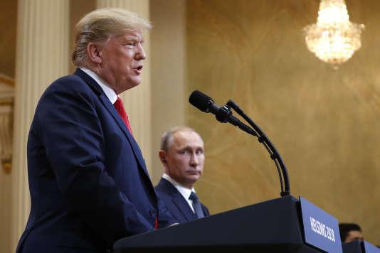 Donald Trump et Vladimir Poutine en conférence de presse à Helsinki (Finlande), le 16 juillet.