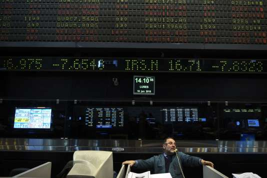 A la Bourse de Buenos Aires en Argentine, le 18 juin.