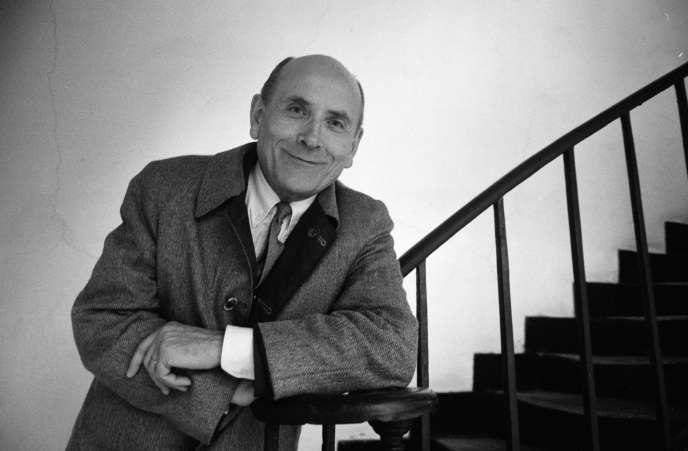L'écrivain français François Bluche, à Paris, le 22 octobre 1986.