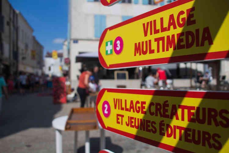 Les 30 000 m2 du festival sont divisés en douze villages thématiques : jeux de société, sport, jeux du cirque, jeux vidéo...