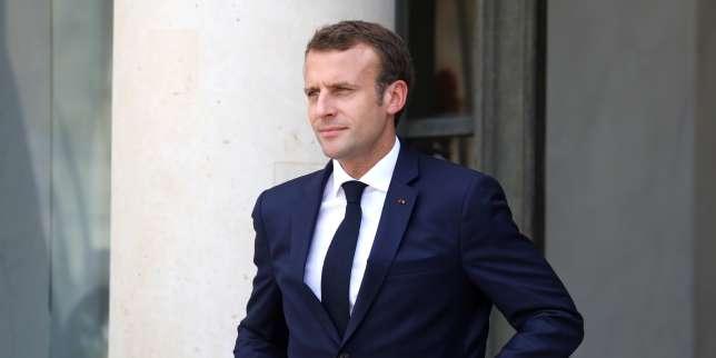 Emmanuel Macron au palais de l'Elysée à Paris, le 6 juillet.