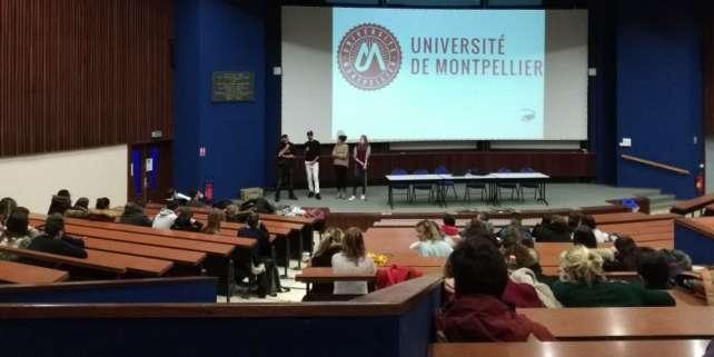 La faculté des sciences de l'université de Montpellier, lors d'une visite de lycéens en février 2018.