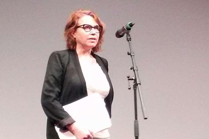 La cinéaste Patricia Mazuy à la Cinémathèque française à Paris en février 2015.