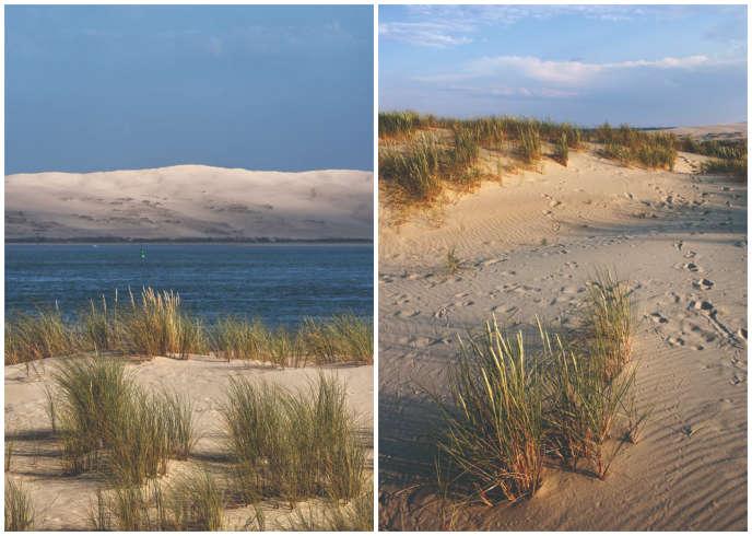 À gauche, la dune du Pilat, en Gironde, la plus haute d'Europe ; à droite, celle de Parnidis, sur le littoral balte, culmine à 52 mètres.