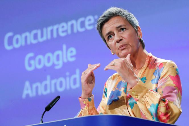La commissaire européenne à la concurrence, le 18 juillet.