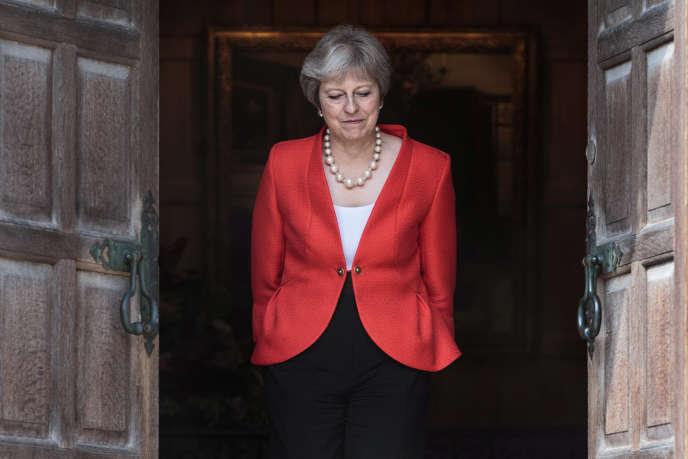 La première ministre britannique Theresa May à Aylesbury (Royaume-Uni), le 13 juillet.