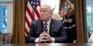 Donald Trump de retour à la Maison Blanche, à Washington (Etats-Unis), le 17 juillet.