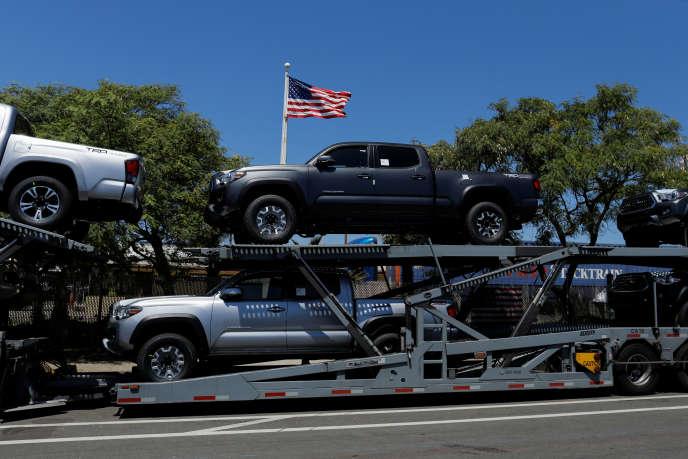 Des véhicules Toyota importés aux Etats-Unis, en Californie, le 27 juin.