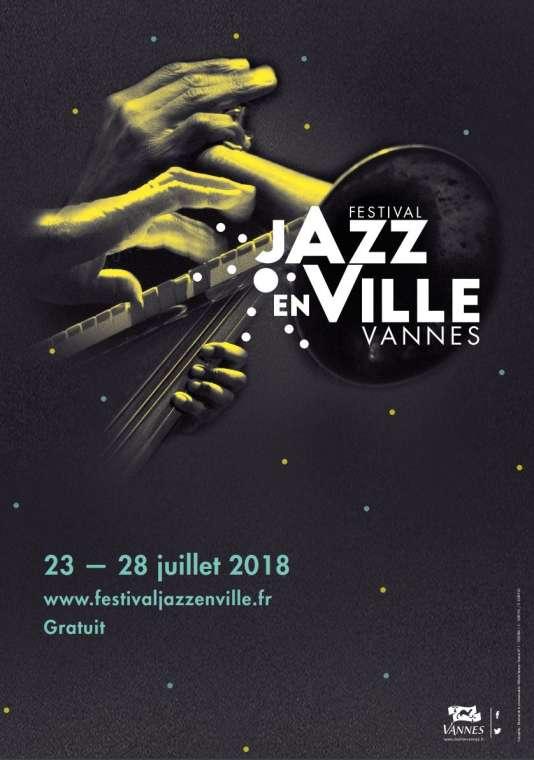 Affiche du festival Jazz en ville, à Vannes.
