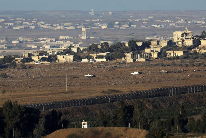 A la frontière entre Israël et la Syrie, sur le plateau du Golan, occupé par Israël, le 19 juillet.