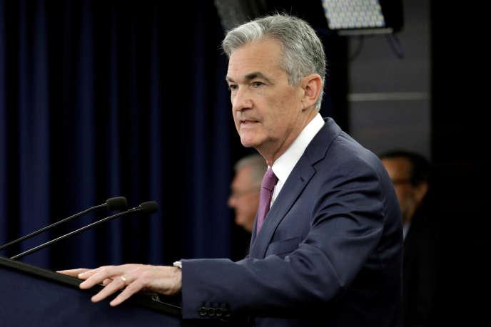 Le président de la Fed, Jerome Powell, lors d'une conférence de presse à Washington, le 13 juin.
