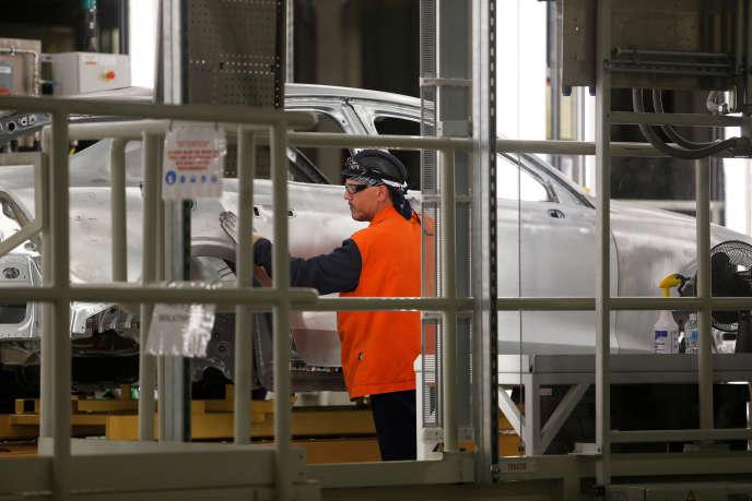 A l'usine Volvo de Ridgeville, en Caroline-du-Sud (Etats-Unis), le 20 juin.