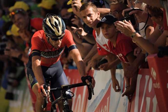 L'Italien Vincenzo Nibali lors de la 12e étape du tour de France, le 19 juillet.