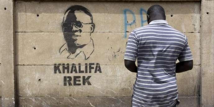 Tag de soutien à Khalifa Sall («Khalifa seulement»), à Dakar en mars 2018.