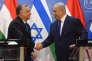 Le premier ministre hongrois Viktor Orban et son homologue israélien, Benyamin Nétanyahou, à Jérusalem, le 19 juillet.