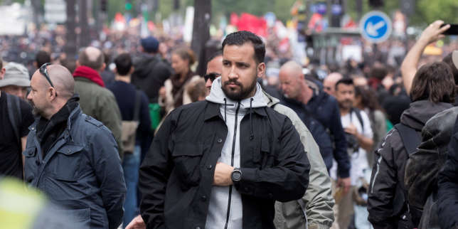 Alexandre Benalla, French presidential aide, is seen during the May Day labour union rally in Paris, France May 1, 2018. Picture taken May 1, 2018. REUTERS/Philippe Wojazer