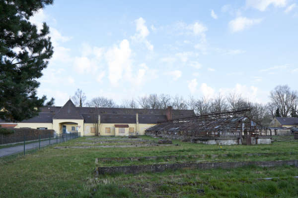 Une ancienne serre du camp de concentration de Dachau, en 2017.