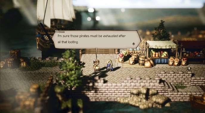 Octopath Traveler reprend tous les codes des jeux de rôle des années 1990.