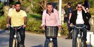 Alexandre Benalla et Emmanuel Macron le 17 juin 2017, au Touquet.