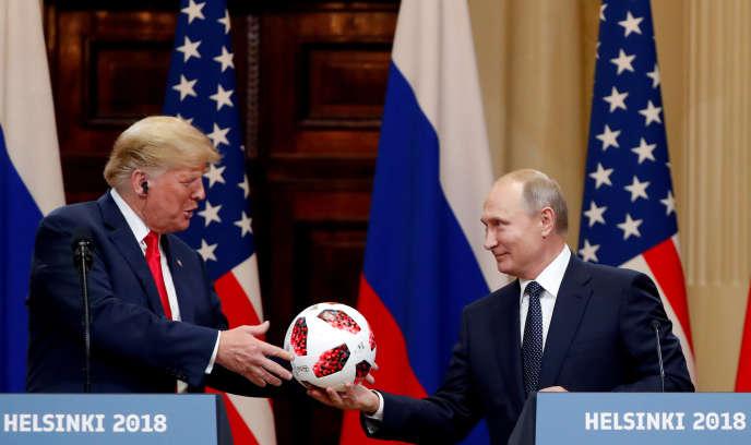 Donald Trump et Vladimir Poutine à Helsinki (Finlande), le 16 juillet.