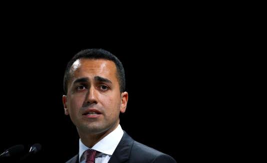 La procédure a été lancée par le ministre du développement économique, Luigi Di Maio (ici à Rome, le 7 juin).