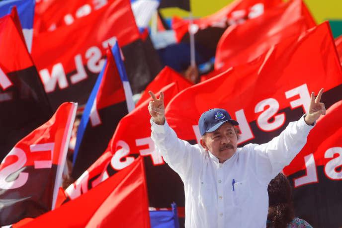 Le président Daniel Ortega à Managua le 19 juillet lors des célébrations du 39e anniversaire de la révolution sandiniste.