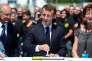 Emmanuel Macron, à Boulazac, le 19 juillet.