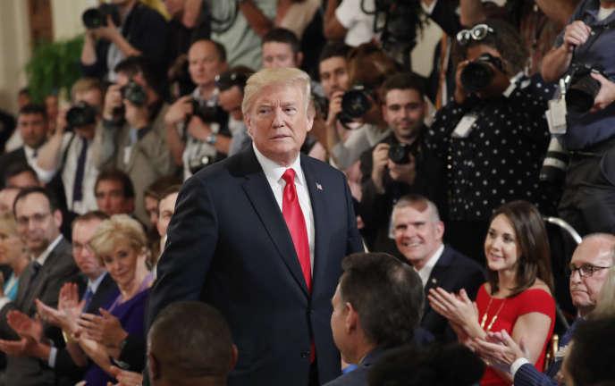 Le président américain Donald Trump à la Maison Blanche à Washington, le 19 juillet.