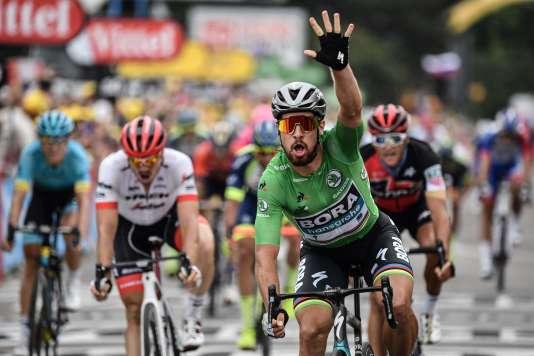 Contrairement aux apparences, Peter Sagan n'a pas remporté sa cinquième étape du Tour.