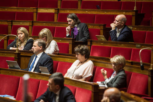 Les députés de La République en marche, à l'Assemblée nationale à Paris, le 19 juillet.