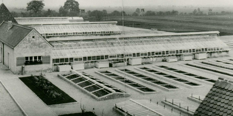 Le Kraütergarten, dans le camp de concentration de Dachau, en Allemagne.