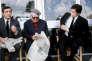 Lino Ventura, Jean Gabin et Alain Delon sur le tournage du« Clan des Siciliens».
